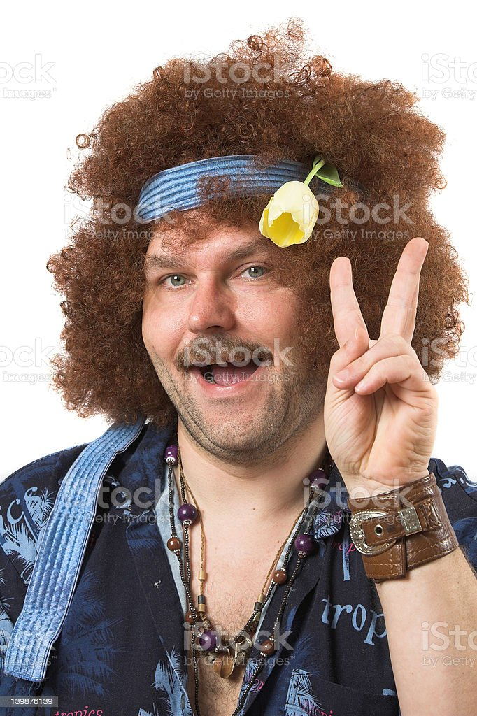 Flower child stock photo
