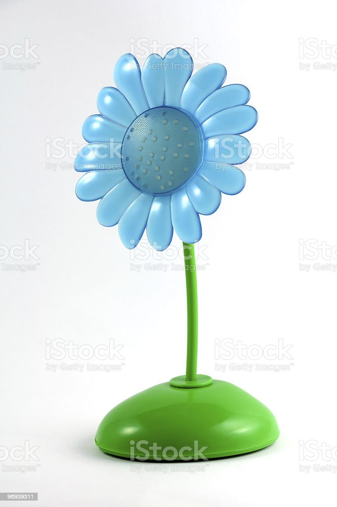 flower colored in plastic stock photo