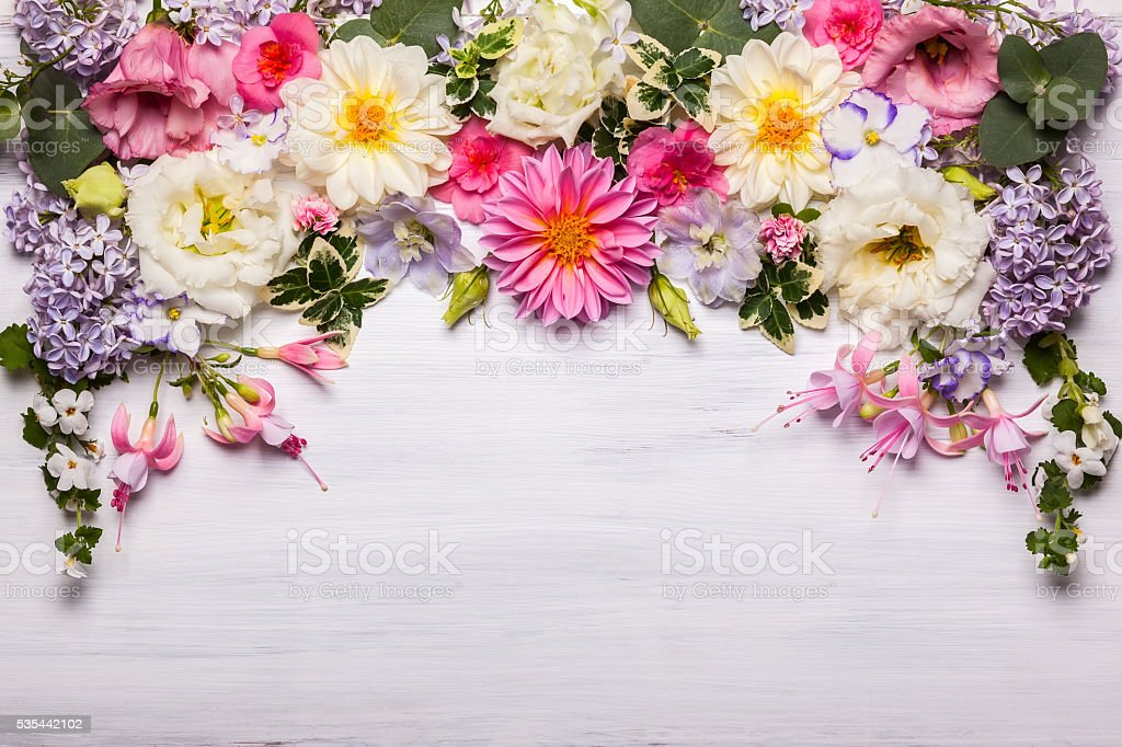 Flower composition stock photo