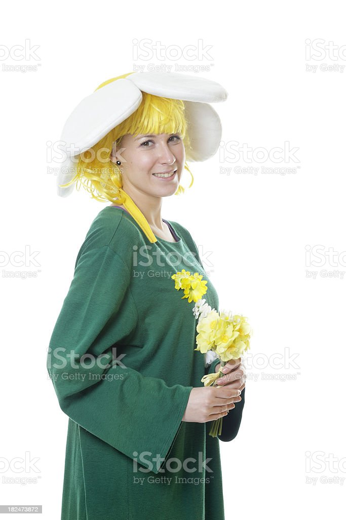 Flower costume royalty-free stock photo