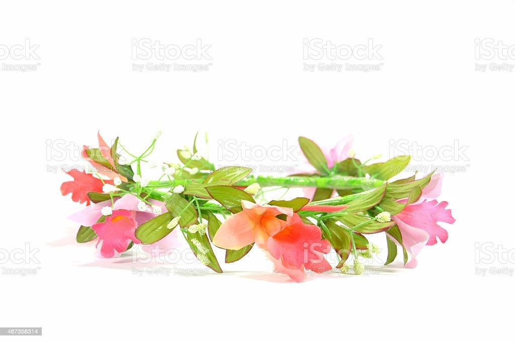 flower crown stock photo