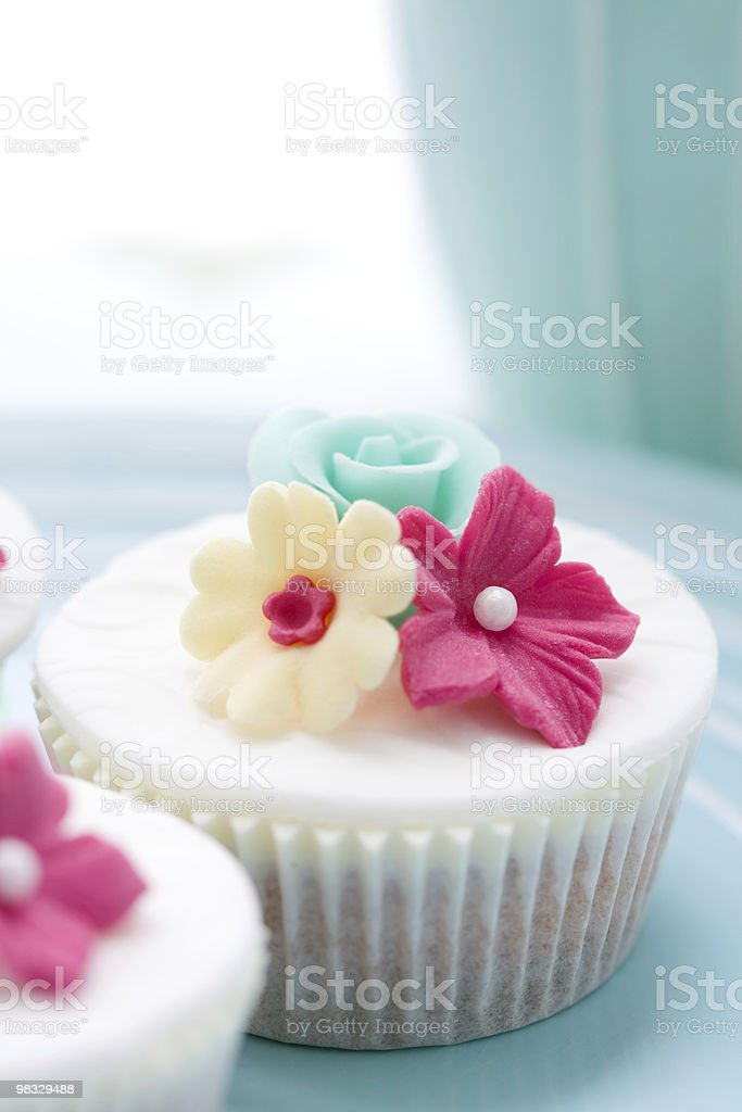 Flower cupcake royalty-free stock photo