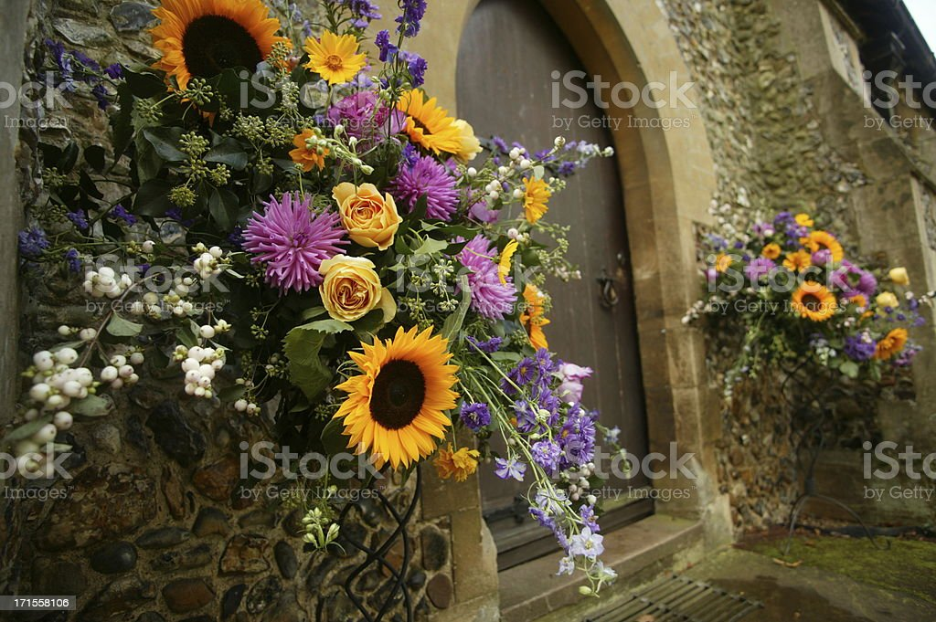 flower decorated church royalty-free stock photo
