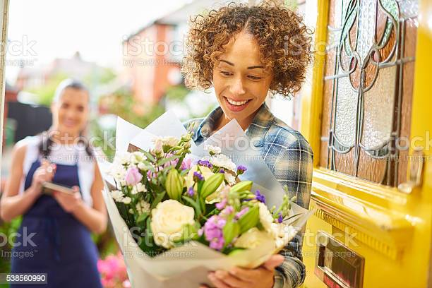 Flower delivery girl makes her drop picture id538560990?b=1&k=6&m=538560990&s=612x612&h=zw122uywun4k58mmqsd zrtqkezzdcayy cmnz84yis=