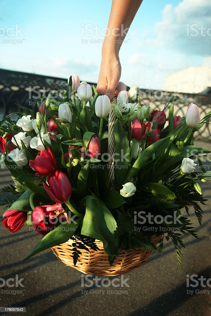 flower delivery service royalty-free stock photo
