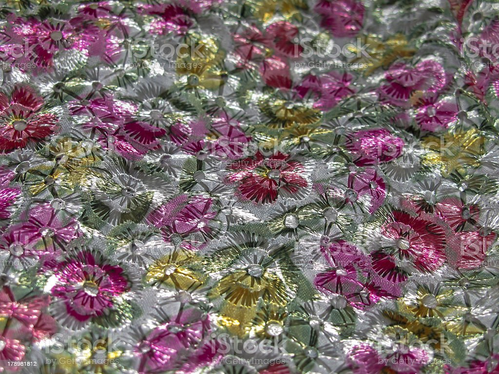 flower fabric wall cover stock photo