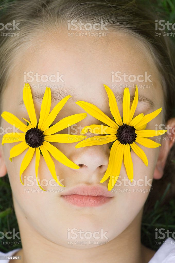 Flower Face royalty-free stock photo