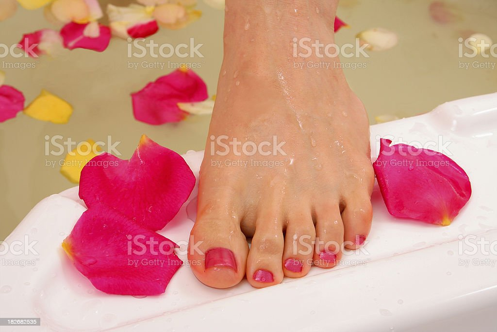 flower feet royalty-free stock photo