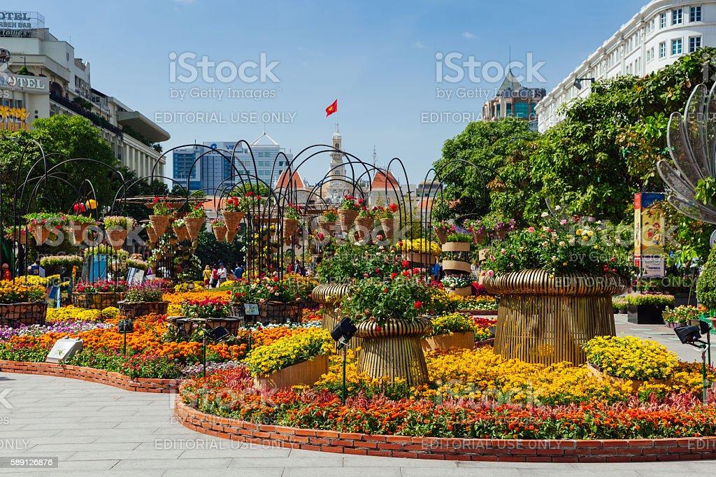 Flower festival in Ho Chi Minh City, Vietnam stock photo