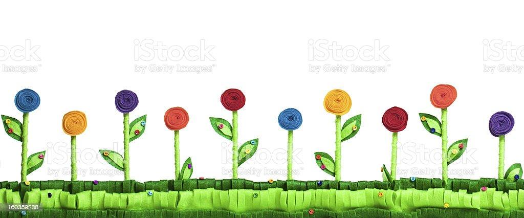 Flower Field  Felt royalty-free stock photo