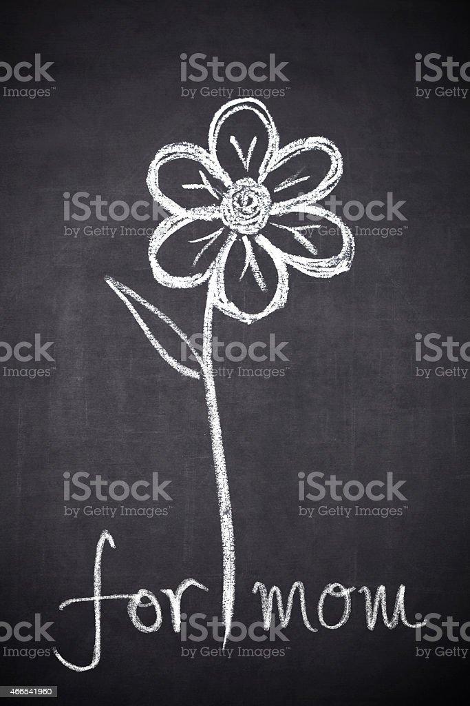 Flower for mom stock photo