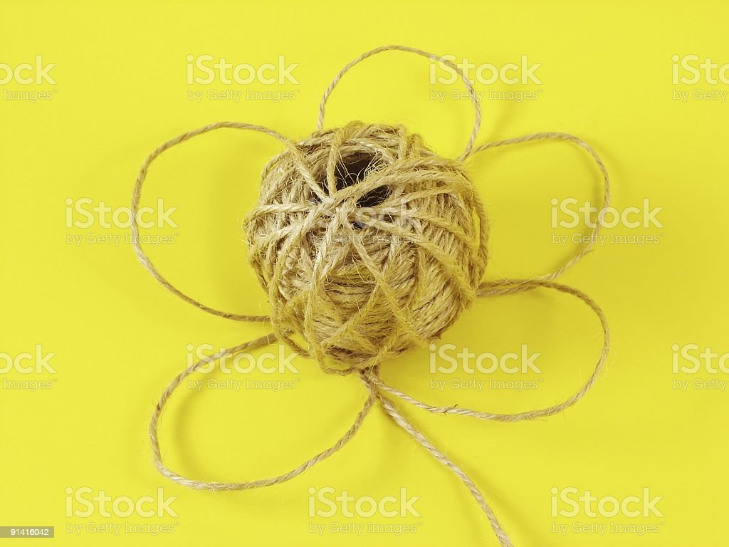 flower from string stock photo