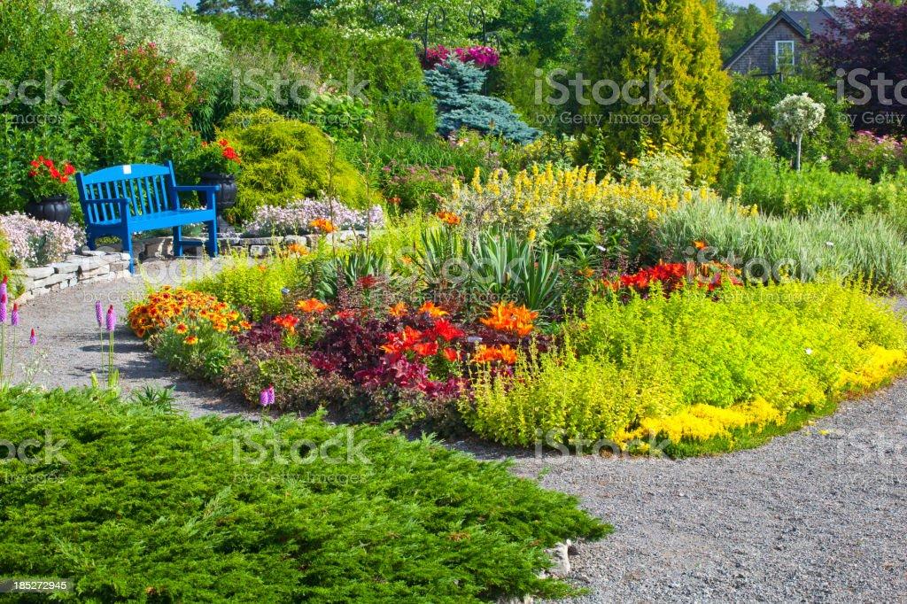 Le Jardin Fleuri Et Bleu Banc De Musculation – Photos et plus d ...