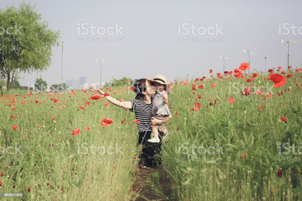 flower garden date stock photo