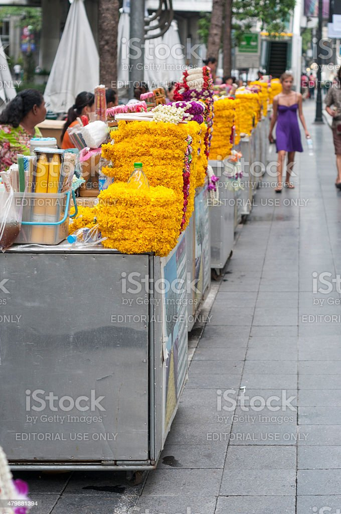 Flower Garlands For Sale stock photo