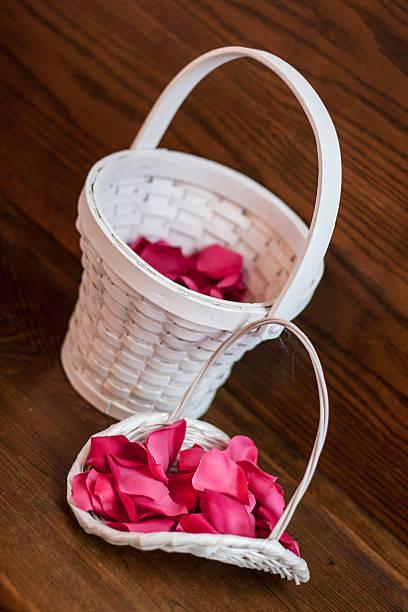 Flower Girl Basket stock photo