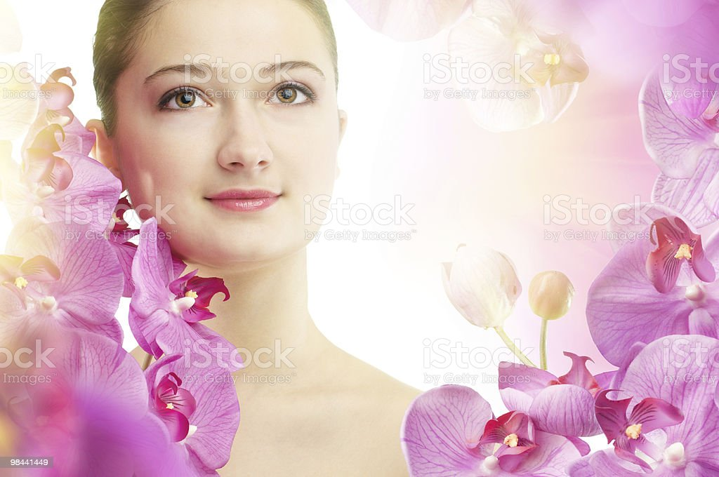 flower girl royalty-free stock photo