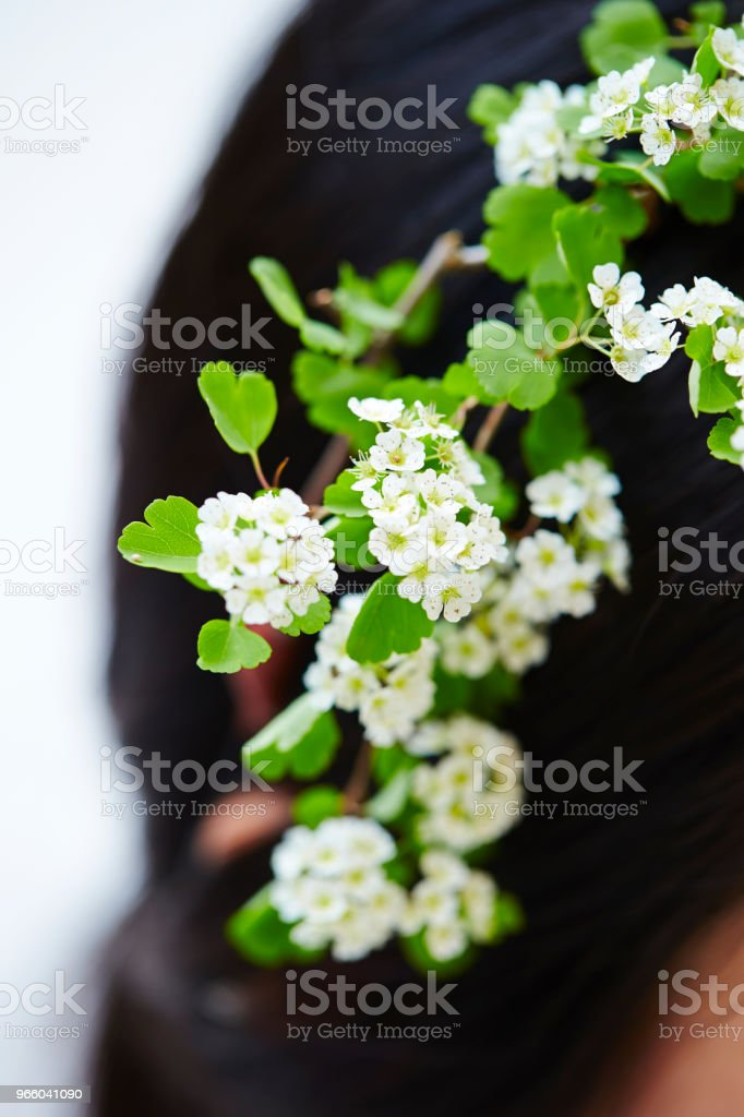 Flower hair accessory - Royalty-free Adult Stock Photo