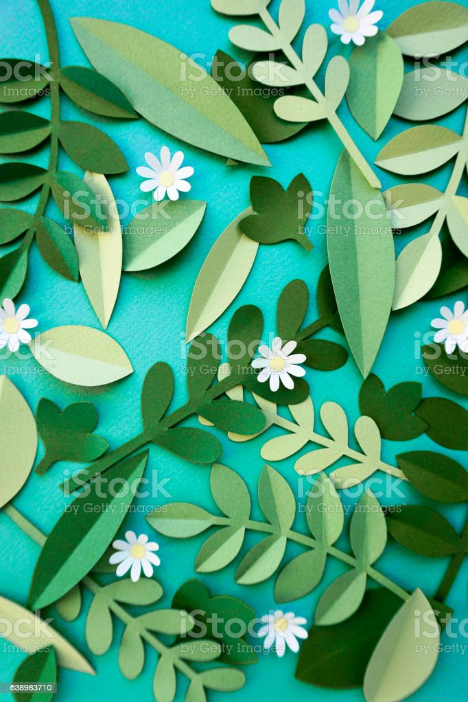 Flower Handmade Papercraft Design Art stock photo