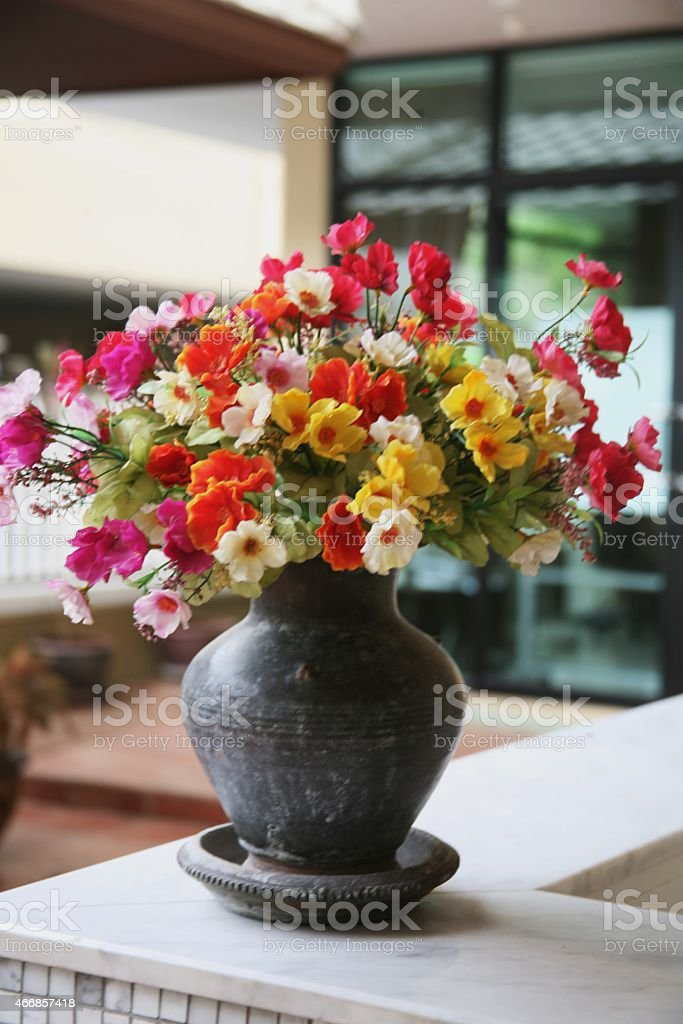 Flower in a vase stock photo