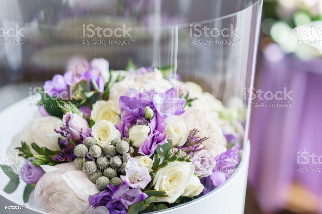 Fleur En Boite En Plastique Transparent Brides De Mariage Bouquet De