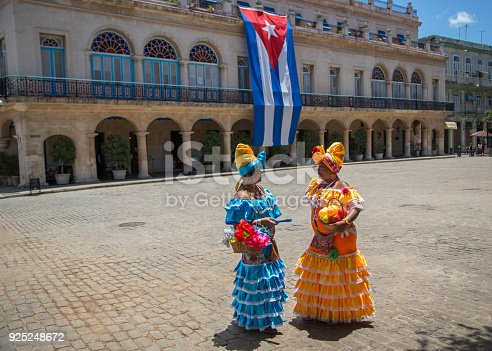tourism,historic,cuban flag,colourful