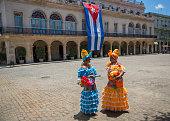 tourism,historic,cuban flag,colourful