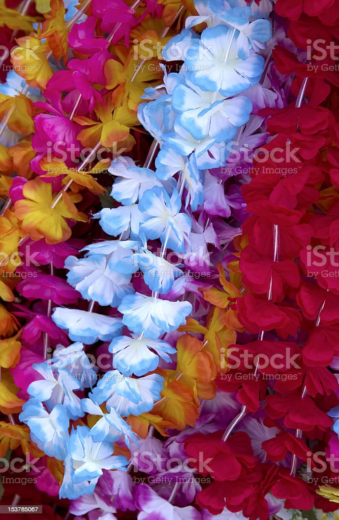 Flower lei background stock photo