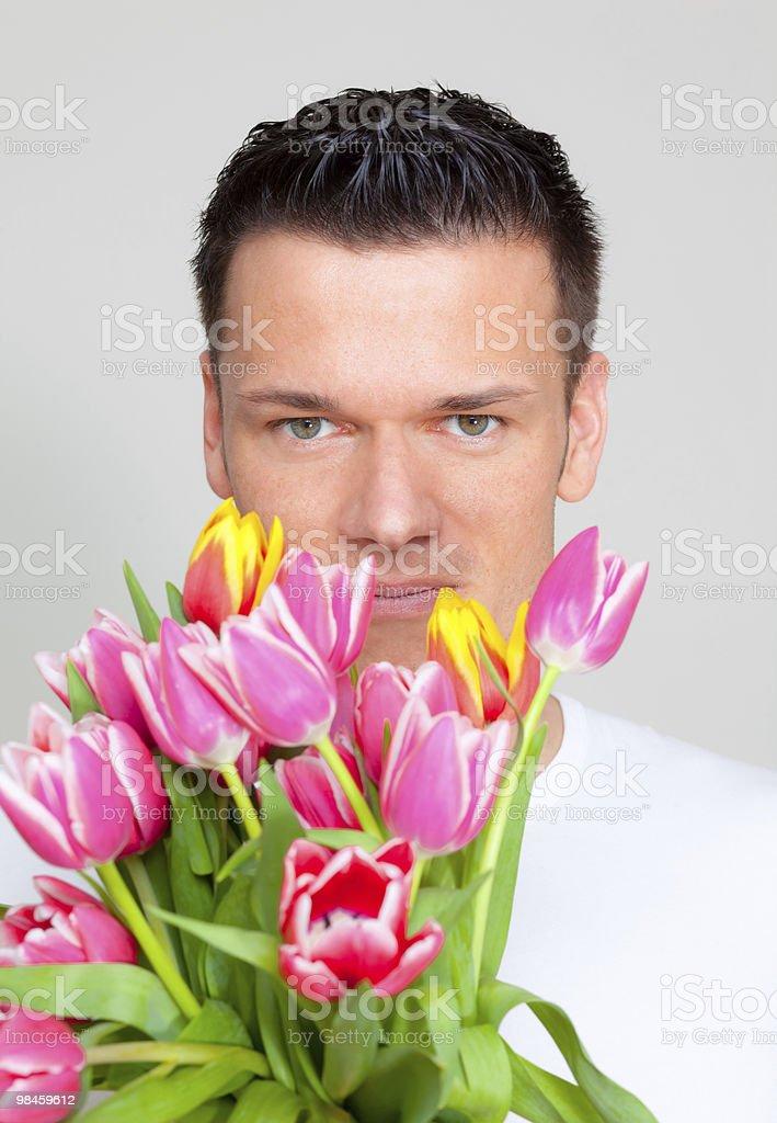 Flower man royalty-free stock photo