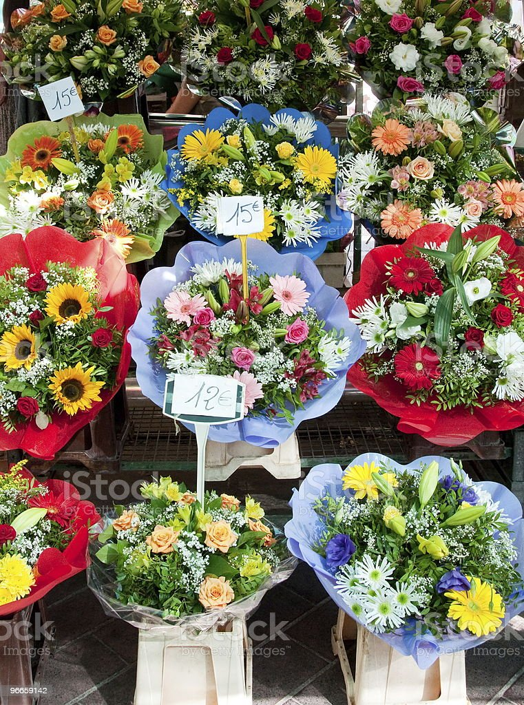 Flower market in Nice royalty-free stock photo