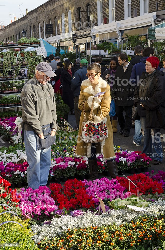 Flower Market, London royalty-free stock photo