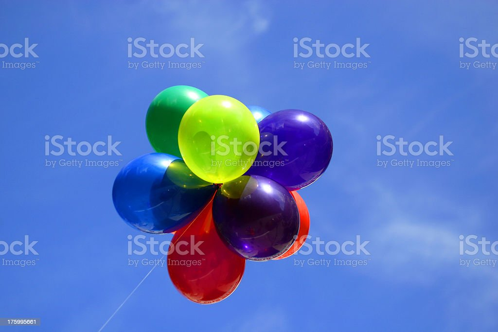 flower of balloons royalty-free stock photo