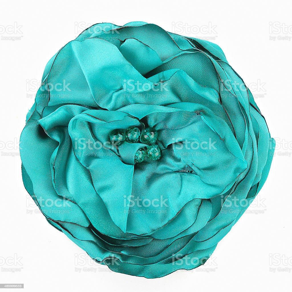 Flower of fabric stock photo