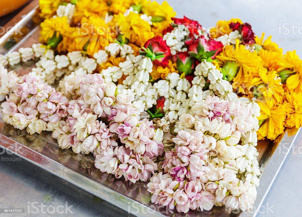Flower offering in Thailand photo libre de droits