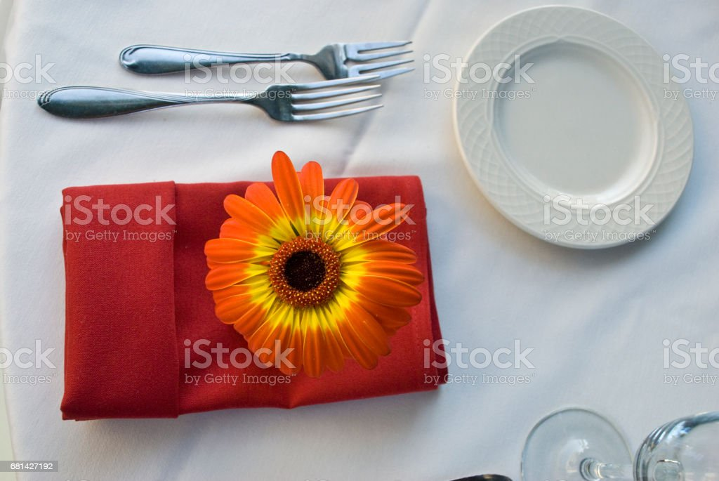Flower on table royalty-free stock photo