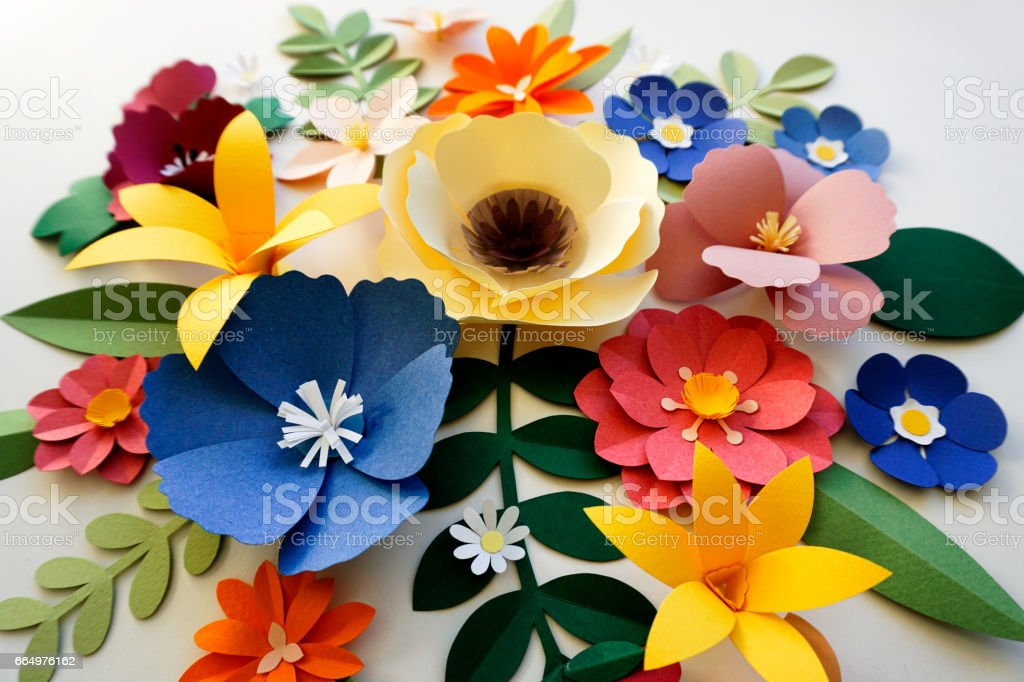 Flower Papercraft Art Activity Handmade stock photo
