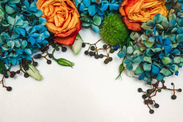 blomma mönster bakgrund - flower bouquet blue and white bildbanksfoton och bilder