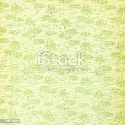 istock Flower Pattern in old Book (Endpage) 173579085