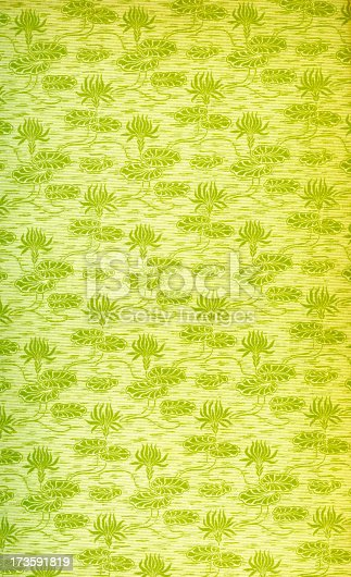 istock Flower Pattern in Old Book (Endpage) 173591819
