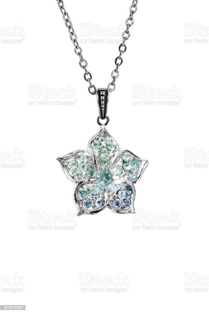 Flower pendant isolated royalty-free stock photo