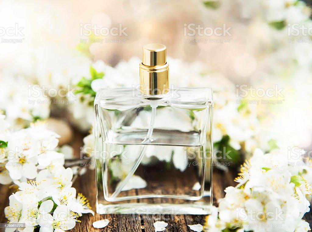 Flower Perfume Bottle stock photo