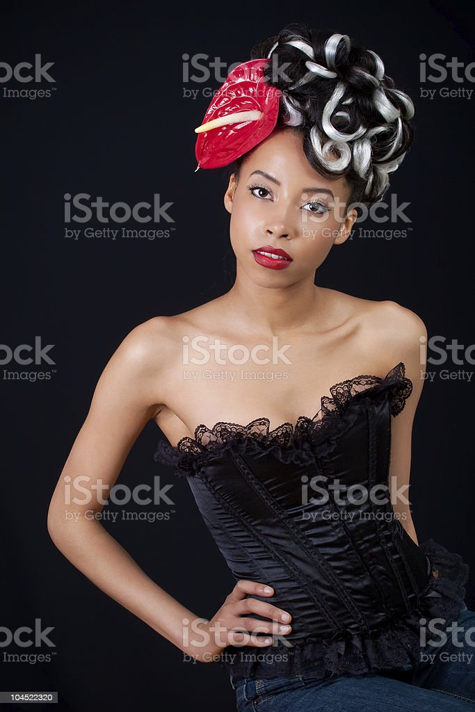 Flower pinup royalty-free stock photo