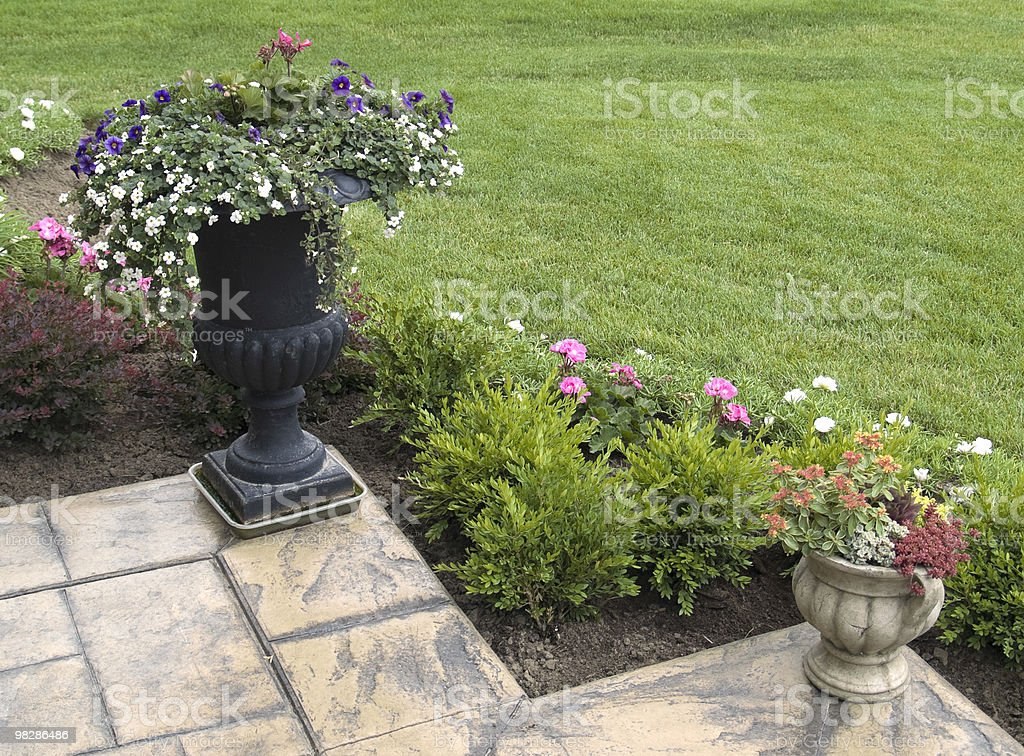 Flower Pots royalty-free stock photo