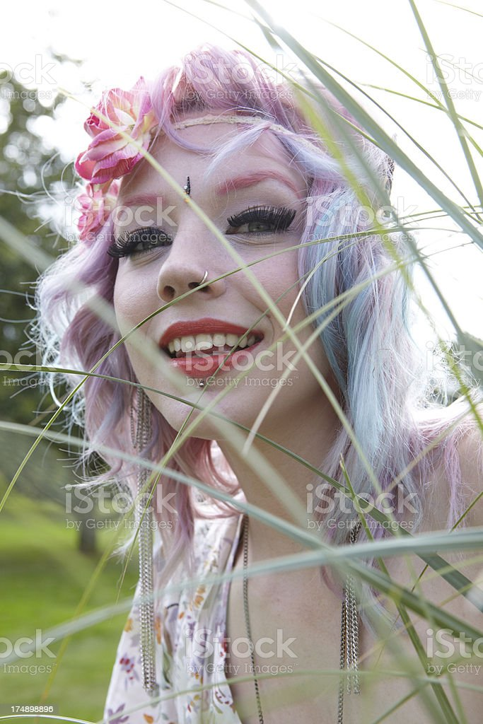 Flower Power Girl royalty-free stock photo