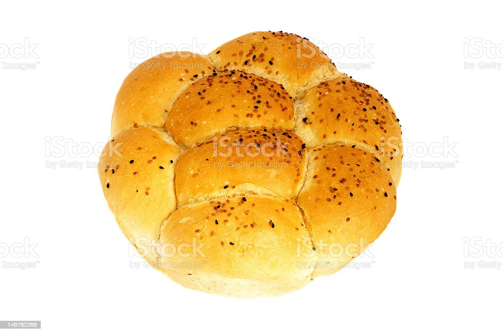 Flower Shaped Bread royalty-free stock photo
