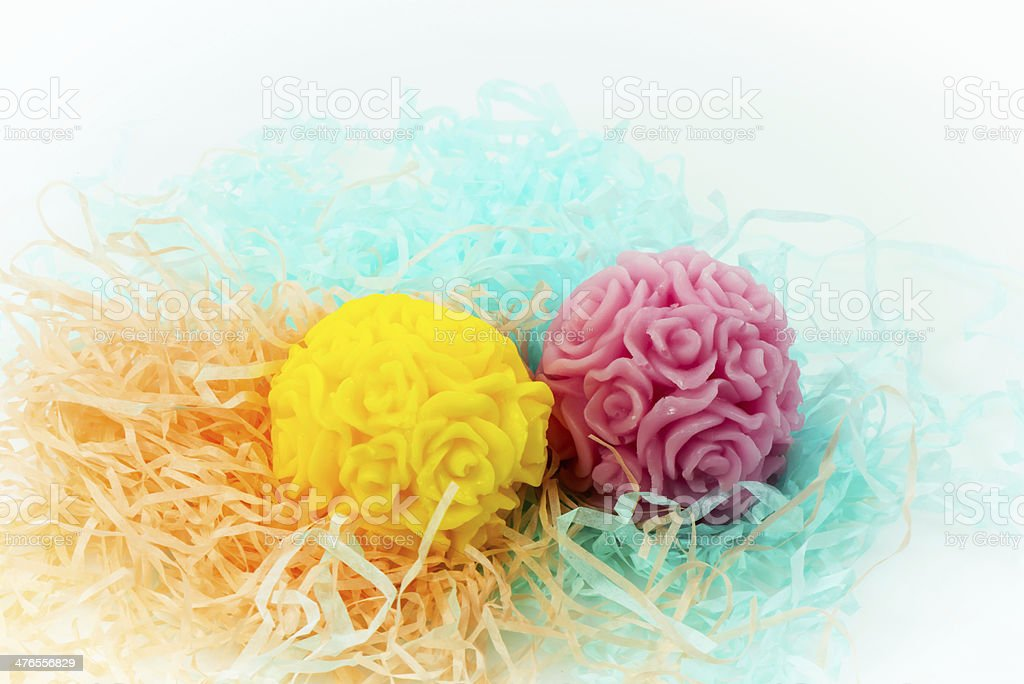Flower Shaped Soaps royalty-free stock photo