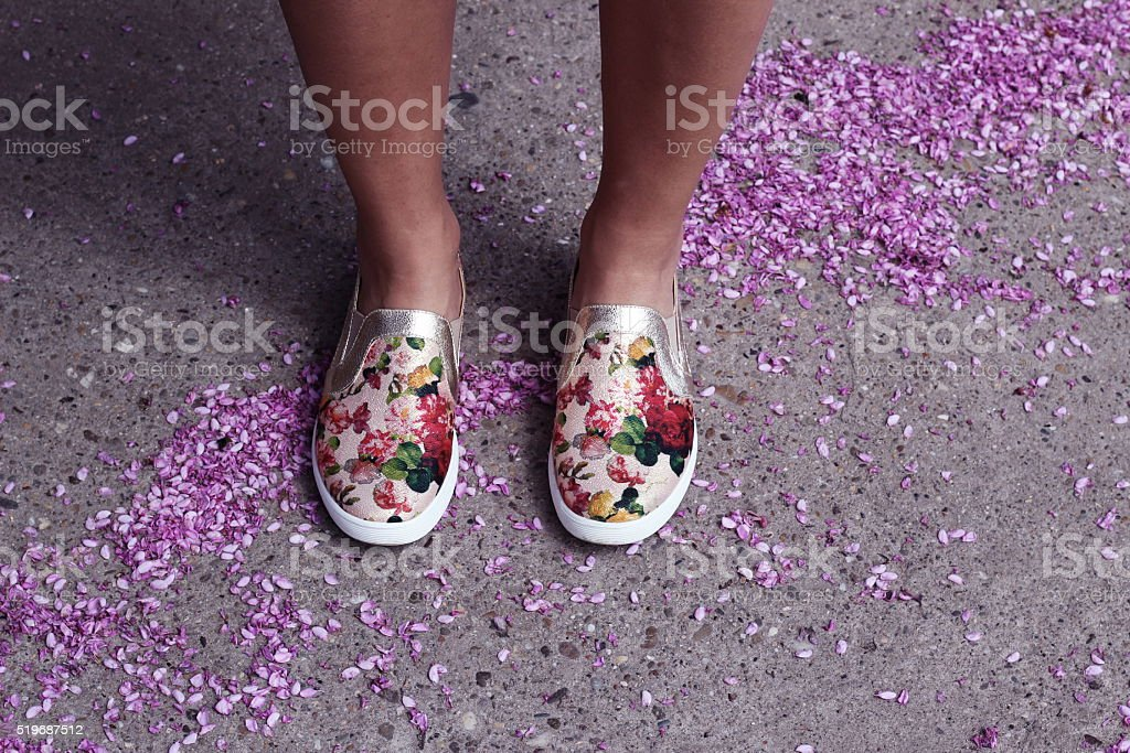 Flower shoes stock photo