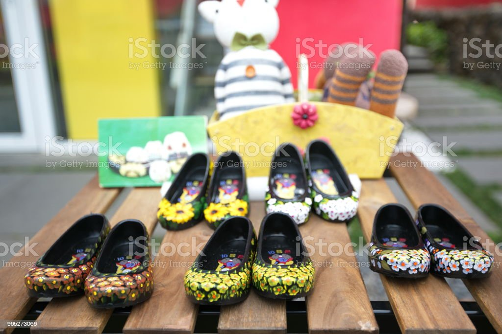 flower shoes royalty-free stock photo