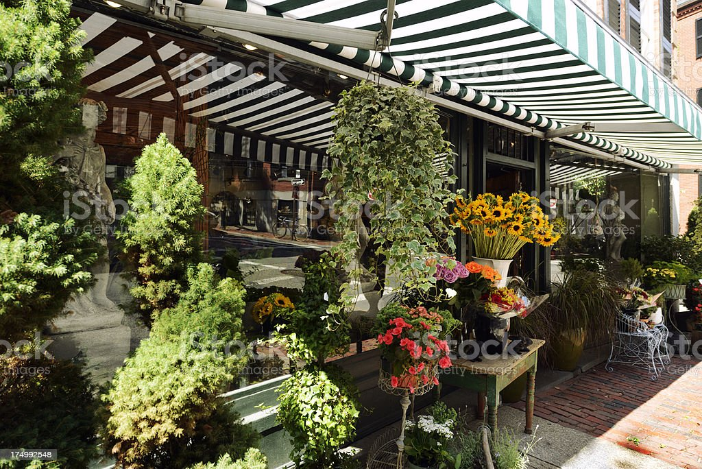 Flower Shop, Boston stock photo