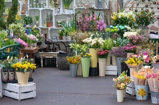 Flower Shop in Borough Market, London
